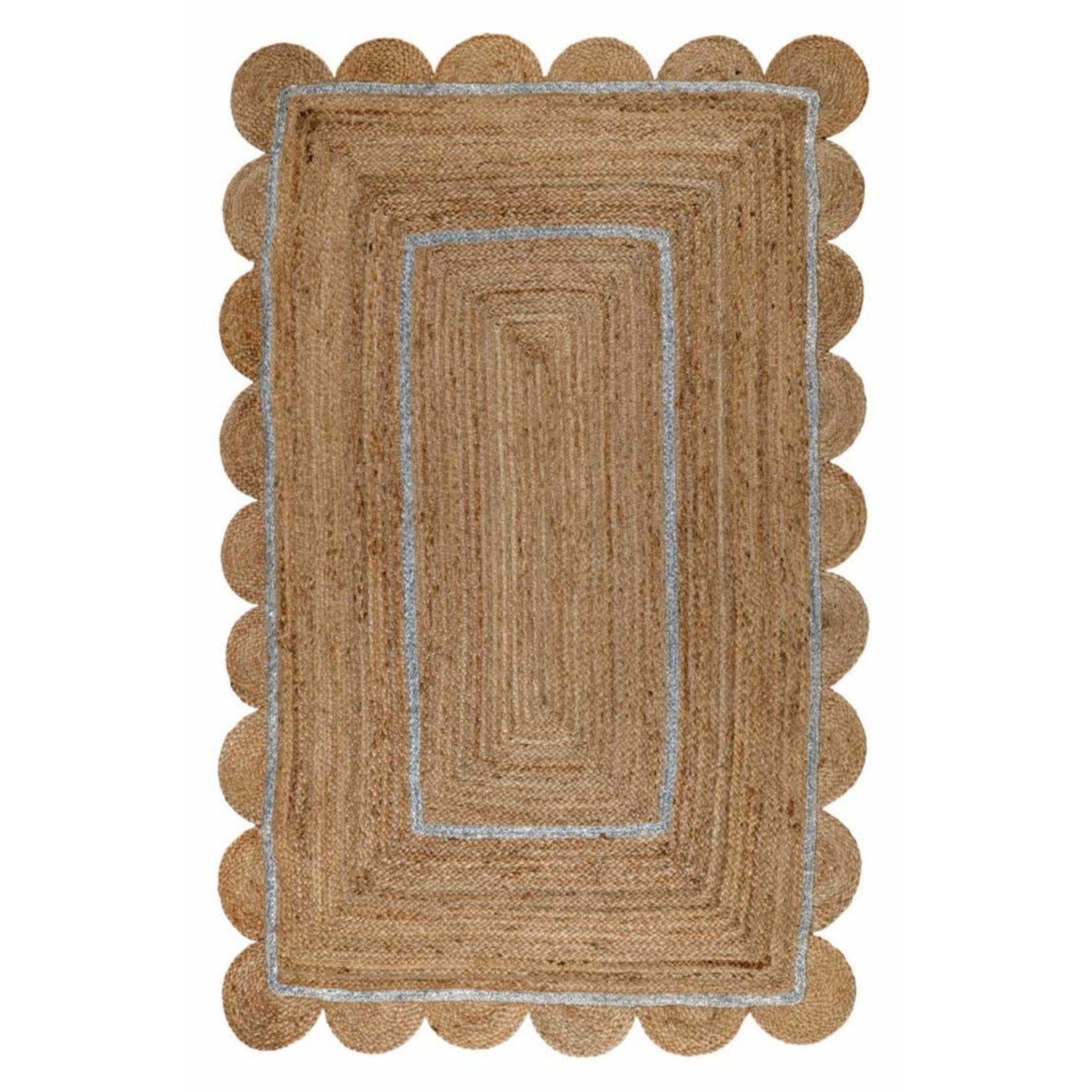 Sohana Scalloped Jute Rugs (3' x 5')