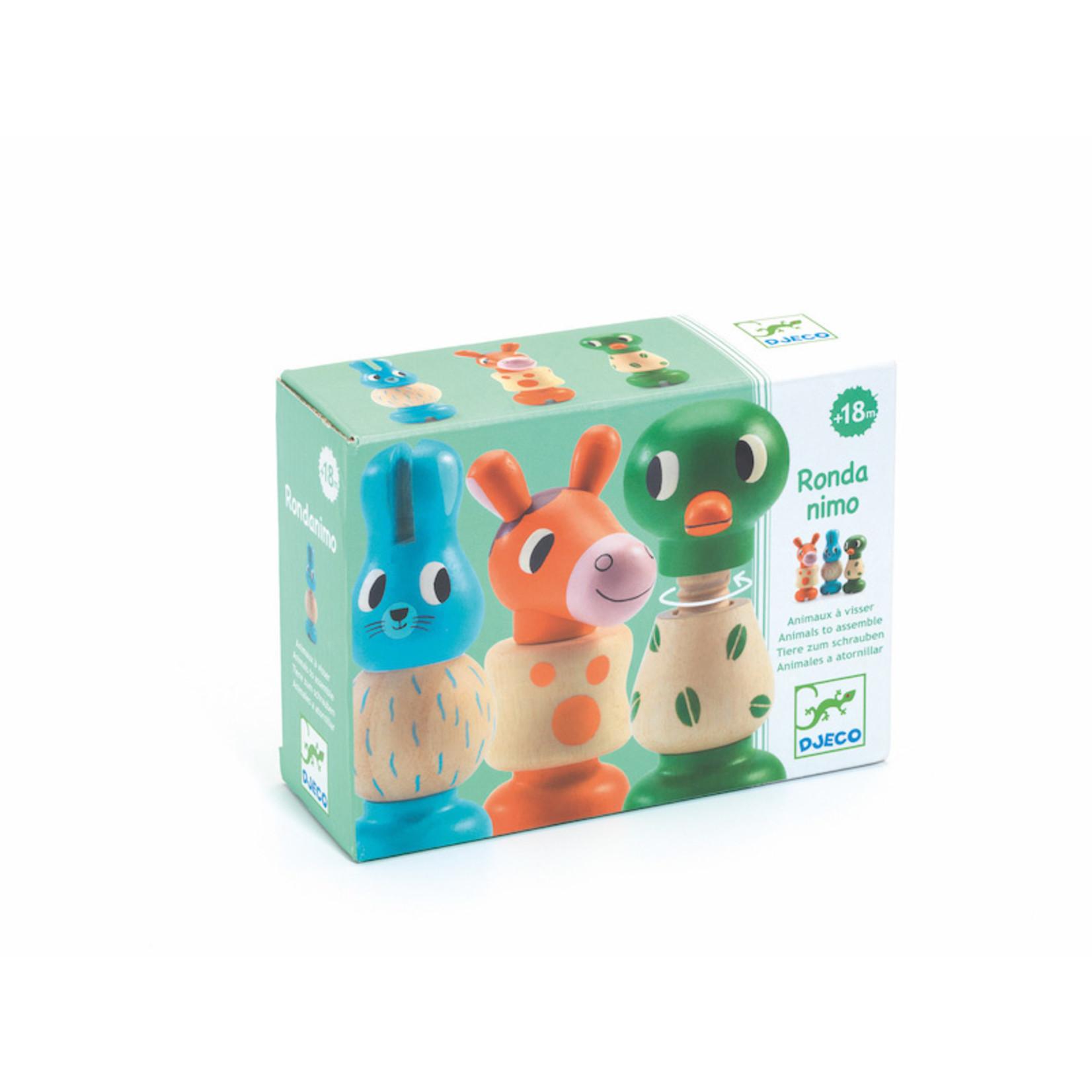 Djeco Rond Animo Animal Figure Puzzle