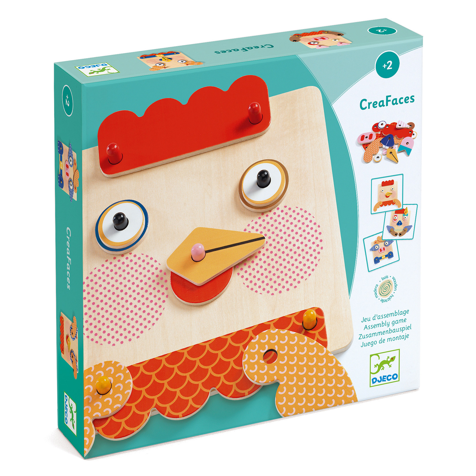 Djeco Creafaces Make-a-Face Wooden Board