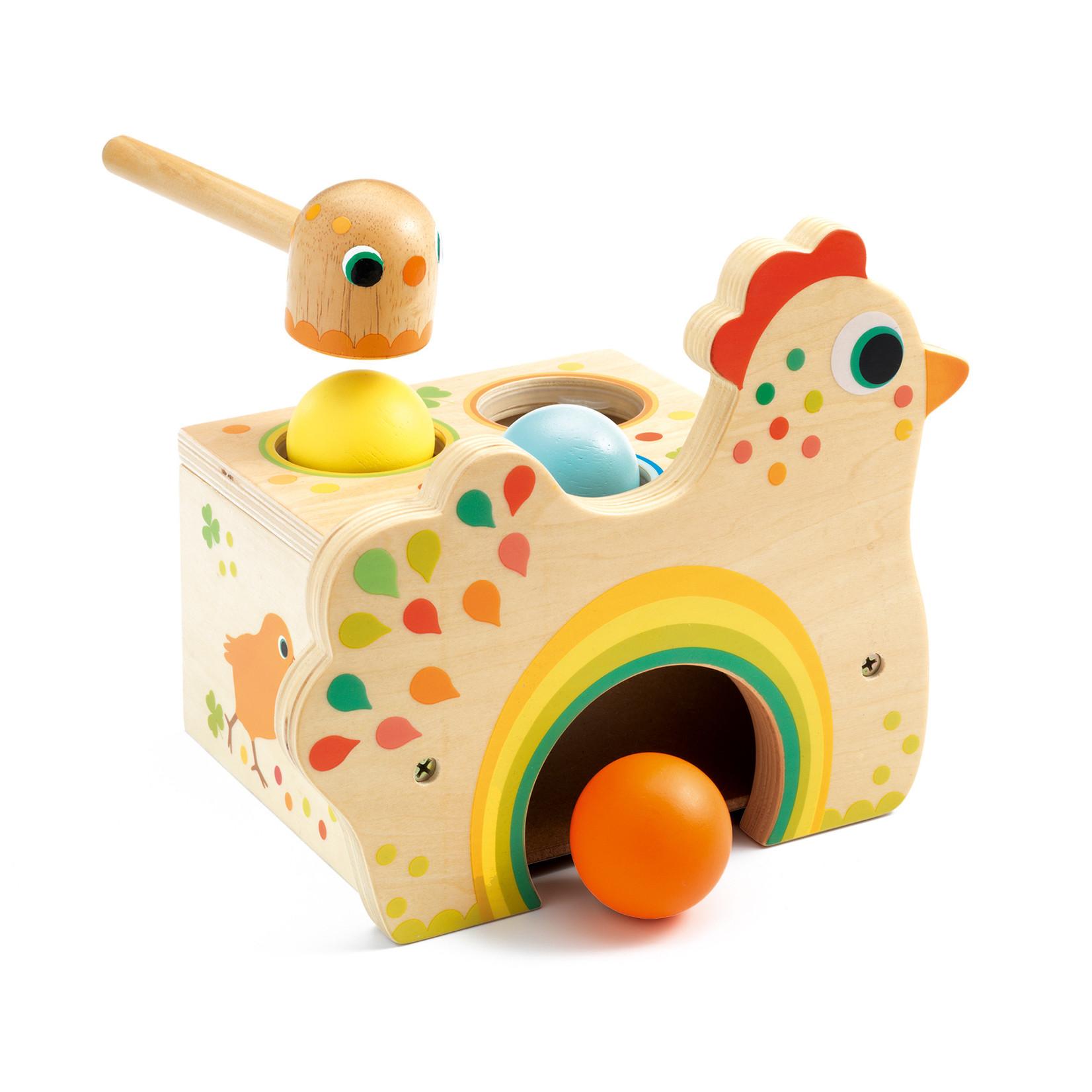 Djeco Tapatou Chicken Tap-Tap Game