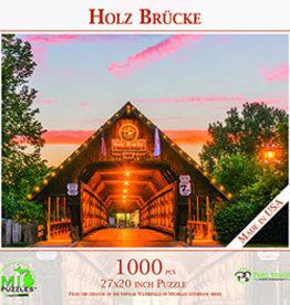 MI Puzzles 1000pc Holz Brucke