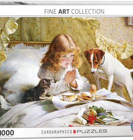 Eurographics Suspense-Girl with Pets 1000pc