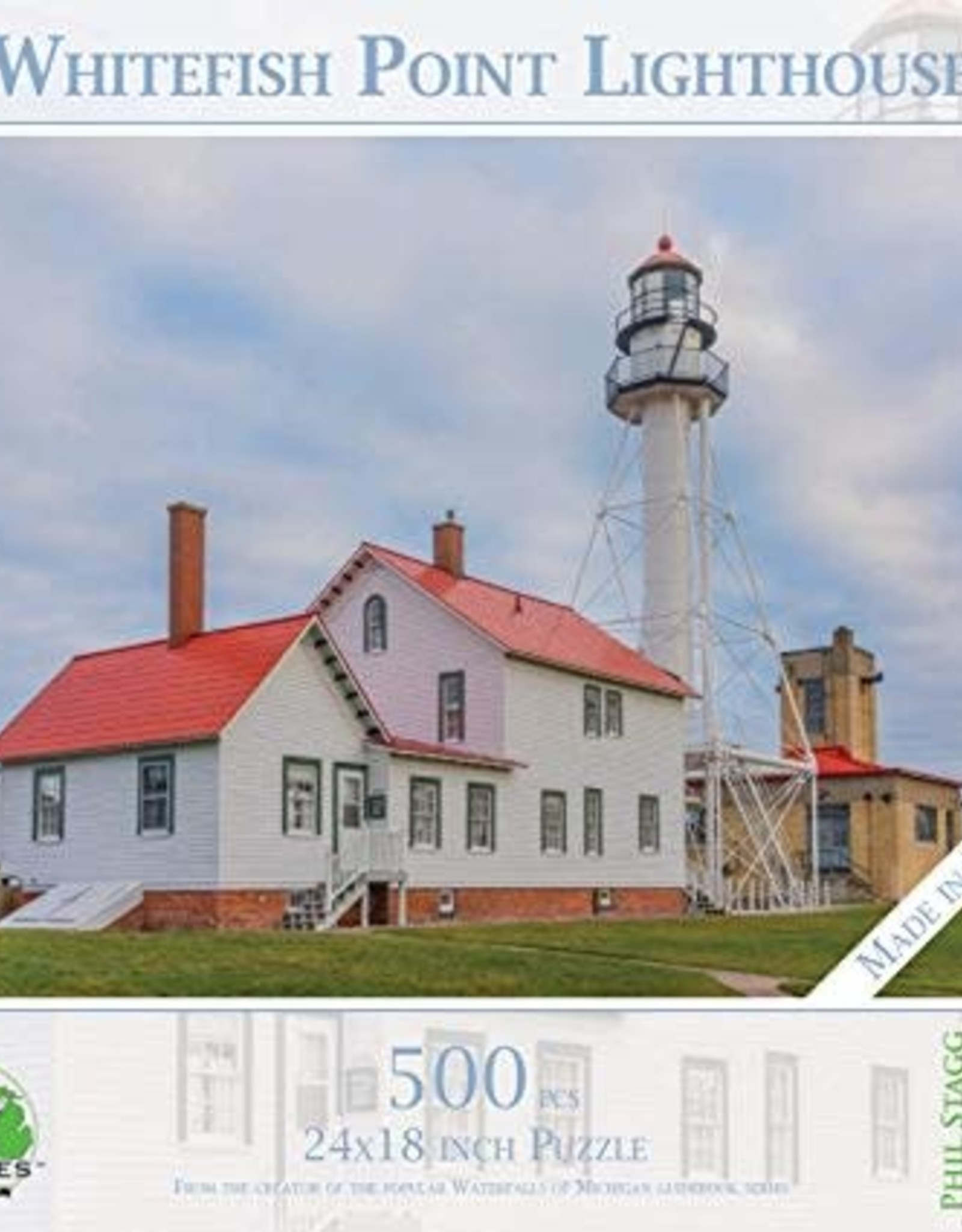 MI Puzzles 500pc Whitefish Point Lighthouse