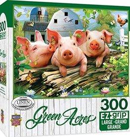 Master Pieces 300pc EZ Grip Green Acres Three Pigs