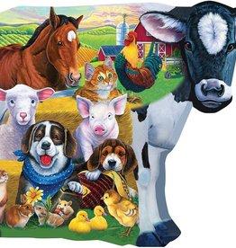 Master Pieces Farm Friends Shaped Puzzle 100pc.