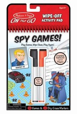 Melissa & Doug MD Wipe Off Activity Pad Spy Games