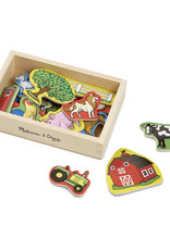 Melissa & Doug MD Wooden Magnets Farm