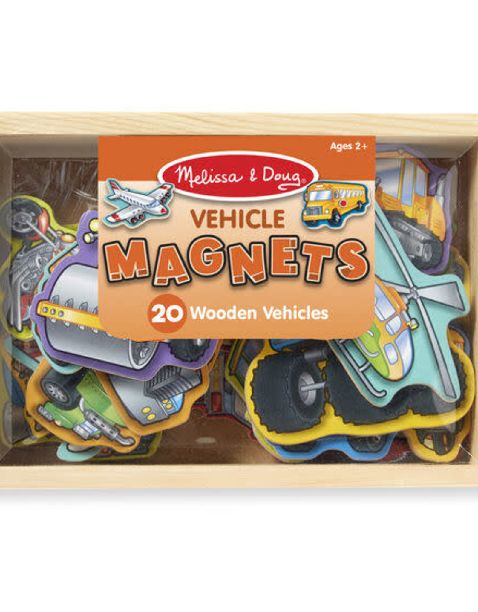 Melissa & Doug MD Wooden Magnets Vehicles