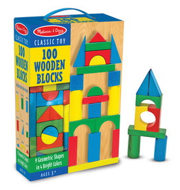 Melissa & Doug MD 100 Wood Blocks  Set