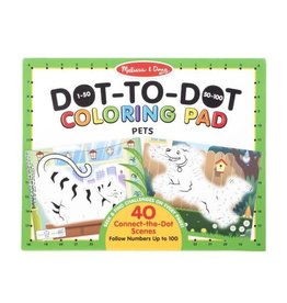 Melissa & Doug MD Coloring Pad Dot to Dot Pets