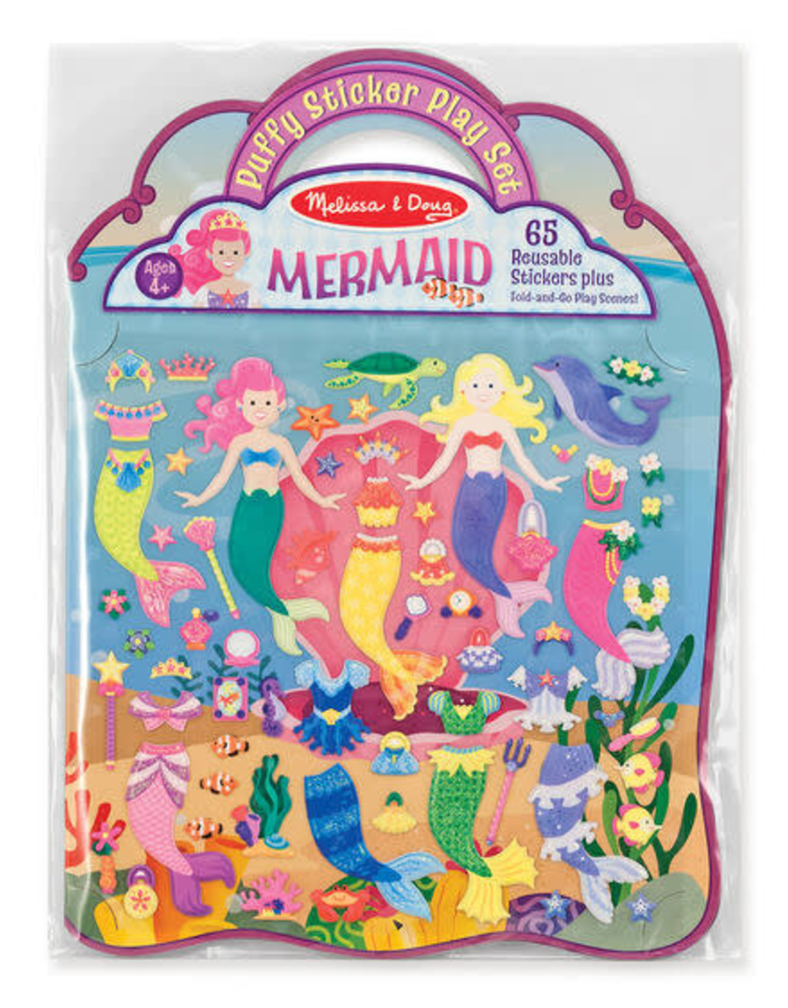 Melissa & Doug MD Puffy Stickers Mermaid