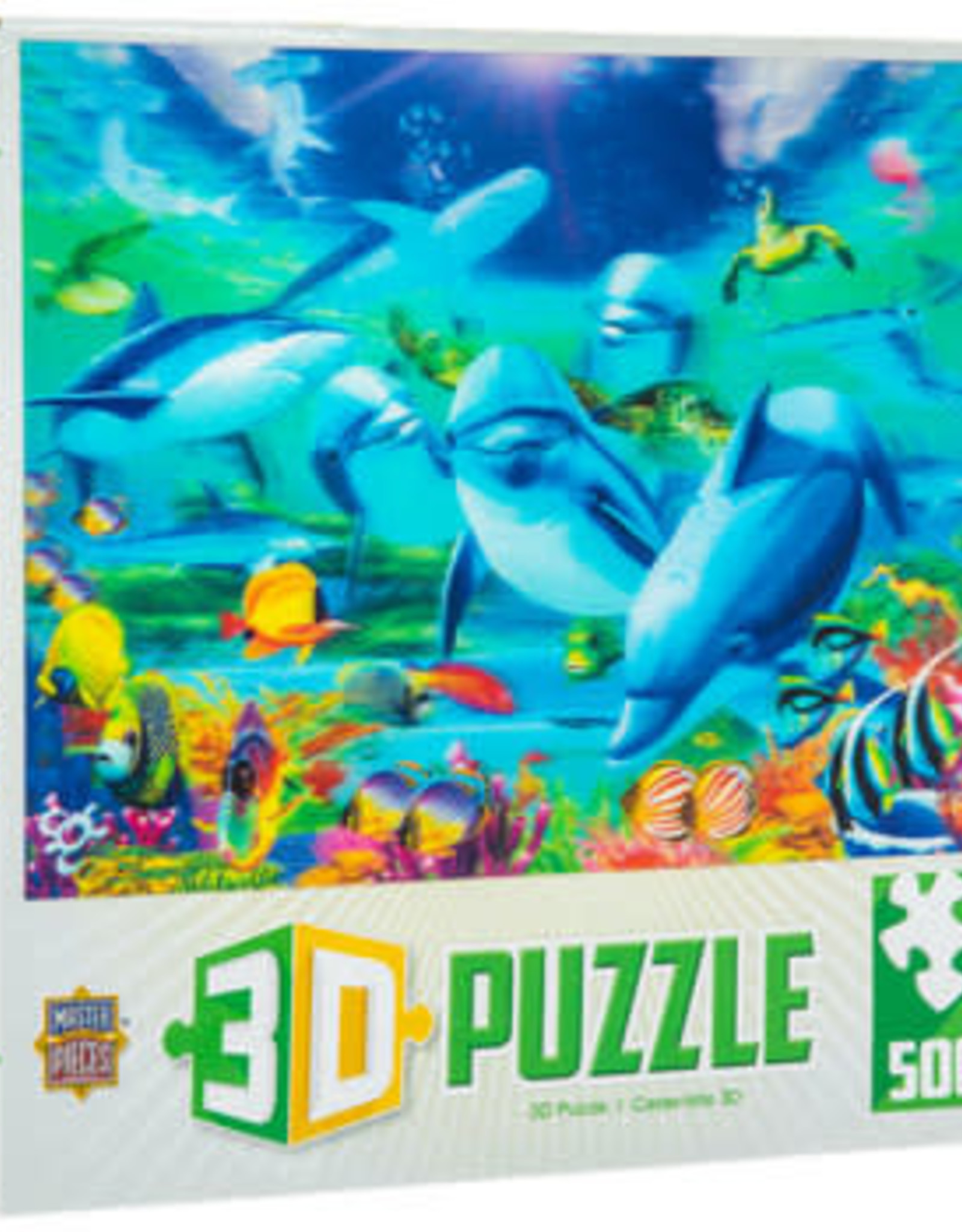 Master Pieces 3D Dolphins Along Reef 500p