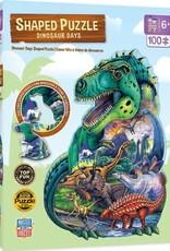 Master Pieces 100pc Shaped Dinosaur Days