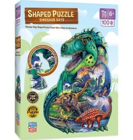 Master Pieces 100pc Shaped Dinosaur Days