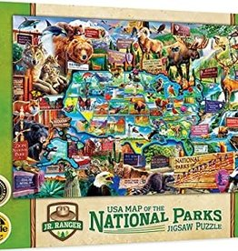 Master Pieces 100pc National Parks Map