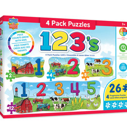 Master Pieces Numbers Matching Puzzles 60pc