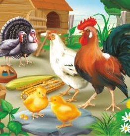 35pc Rooster and Hen