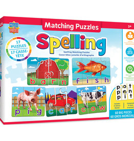 Master Pieces Spelling Matching Puzzles 60pc