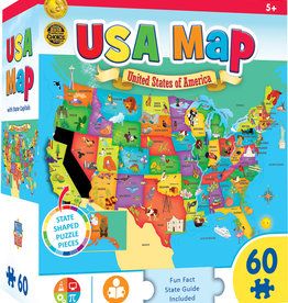 Master Pieces USA Map 60pc.