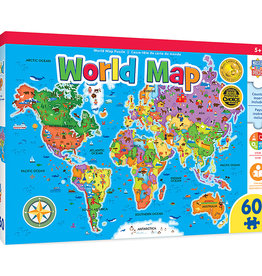 Master Pieces 60pc World Map