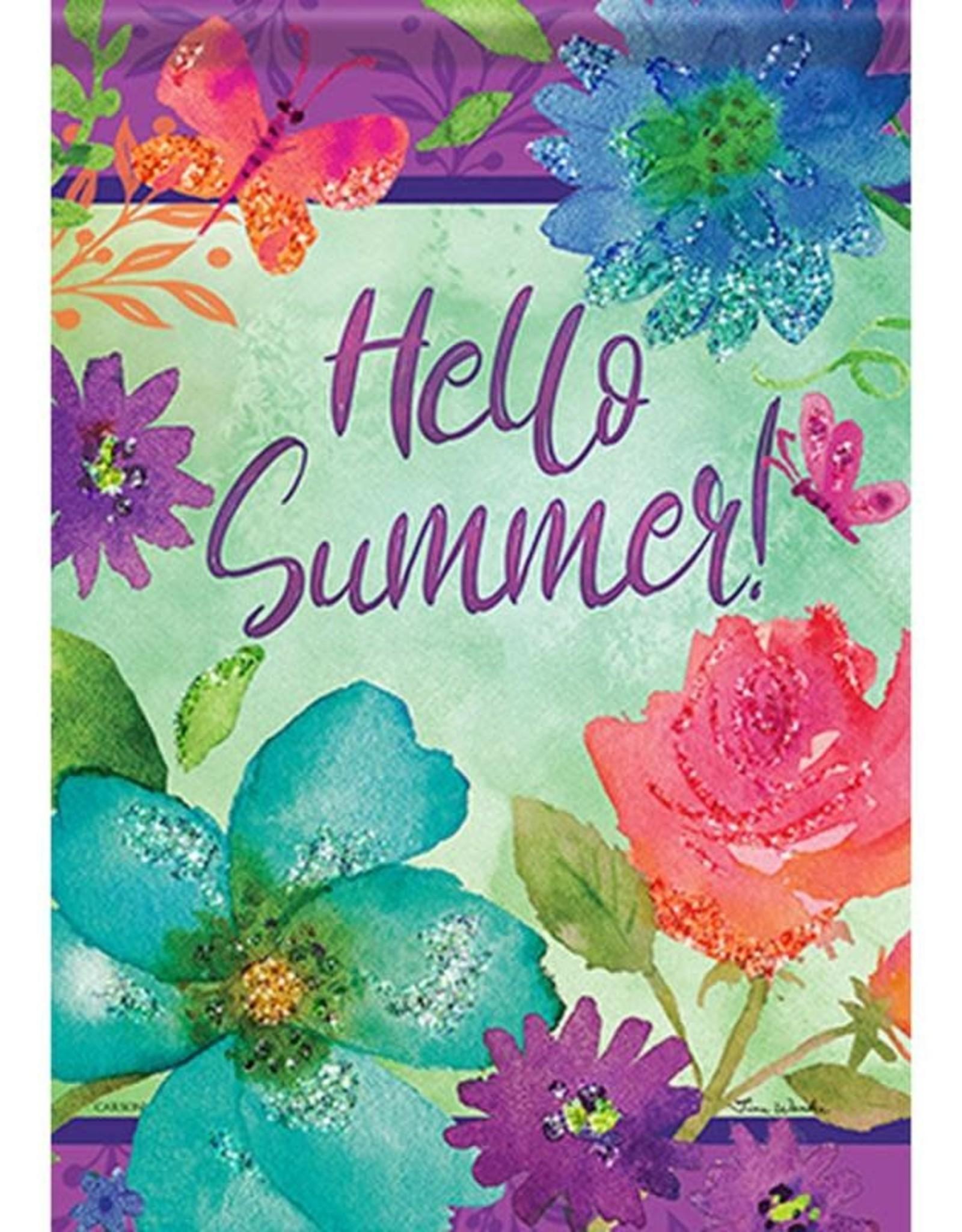 Carson C Bright Floral Hello Summer