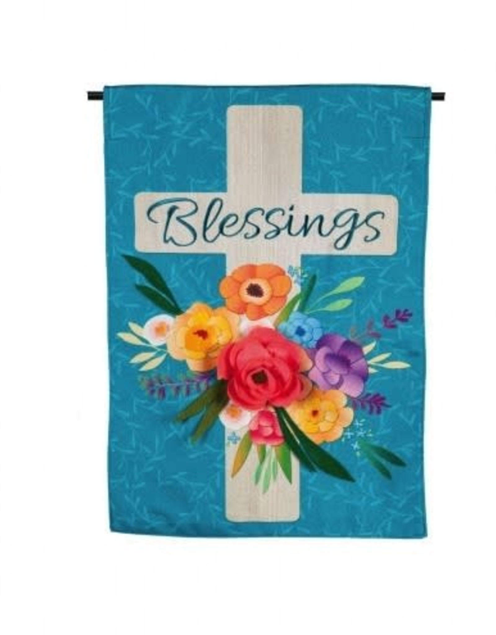 Evergreen EV Blessings Floral Cross GF