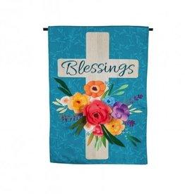 Evergreen EV Blessings Floral Cross GF