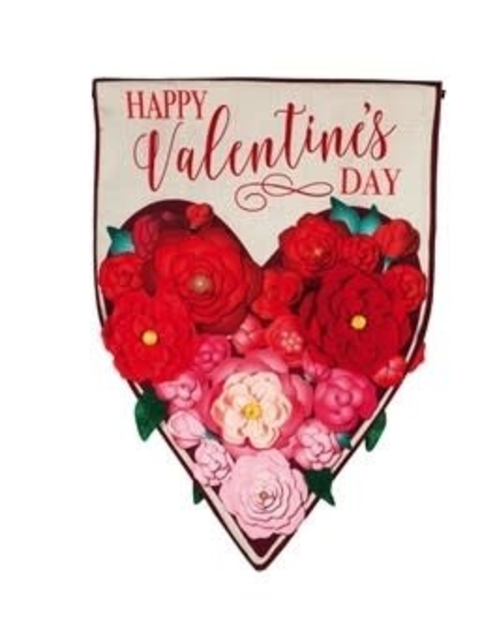 Evergreen EV GF Floral Heart Valentines