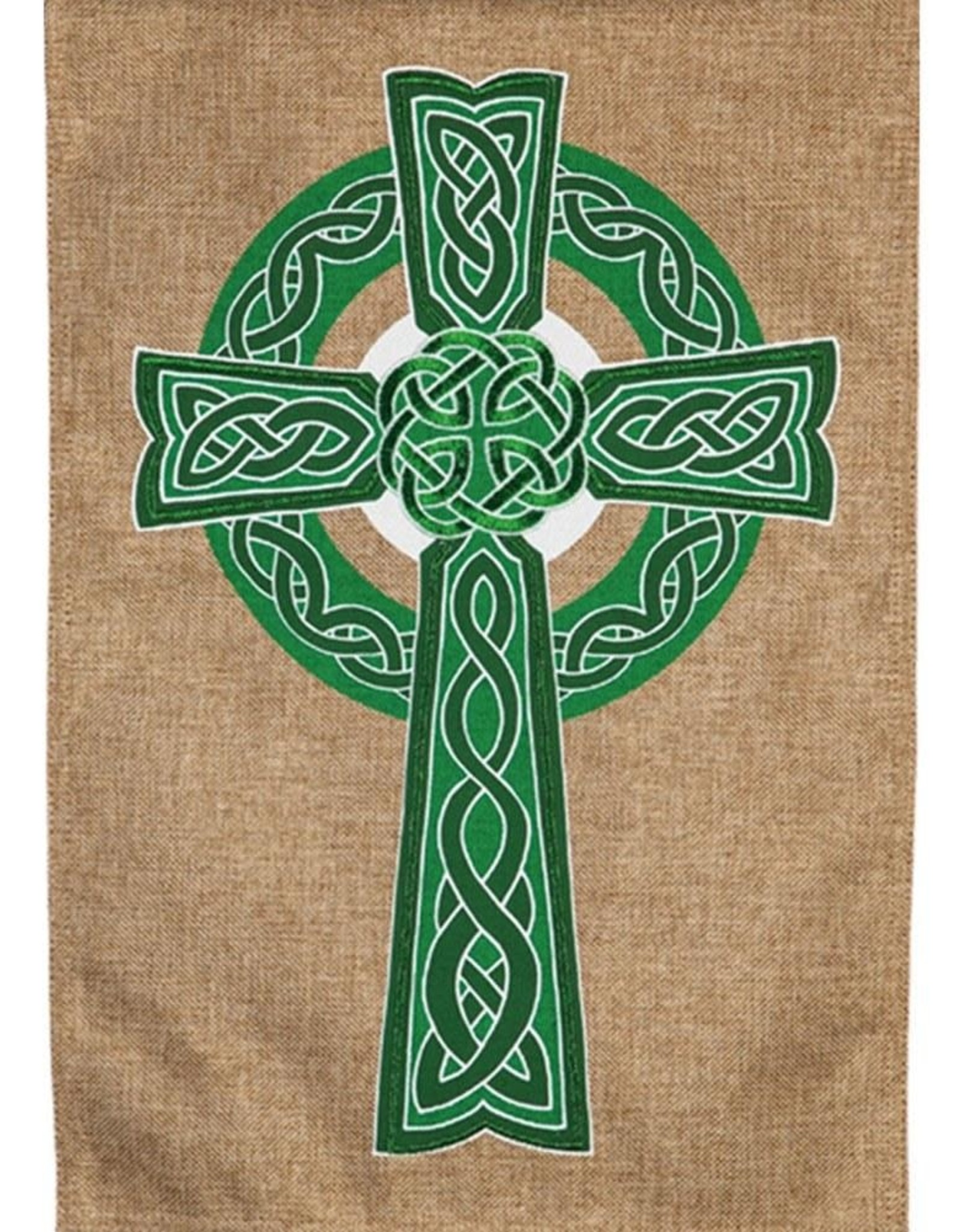 Evergreen EV Celtic Cross Burlap GF