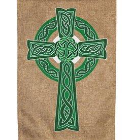 Evergreen EV Celtic Cross Burlap GF