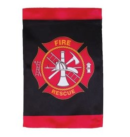 In The Breeze 12x18 Fire Rescue Lustre GF