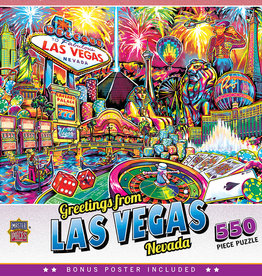 Master Pieces Greetings From - Las Vegas 550pc Puzzle