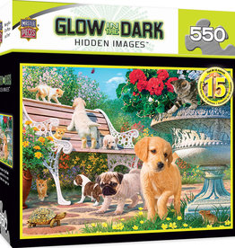 Master Pieces Glow In The Dark - Afternoon at the Park 500pc Puzzle