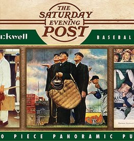 Master Pieces Norman Rockwell - Baseball 1000pc Panoramic Puzzle