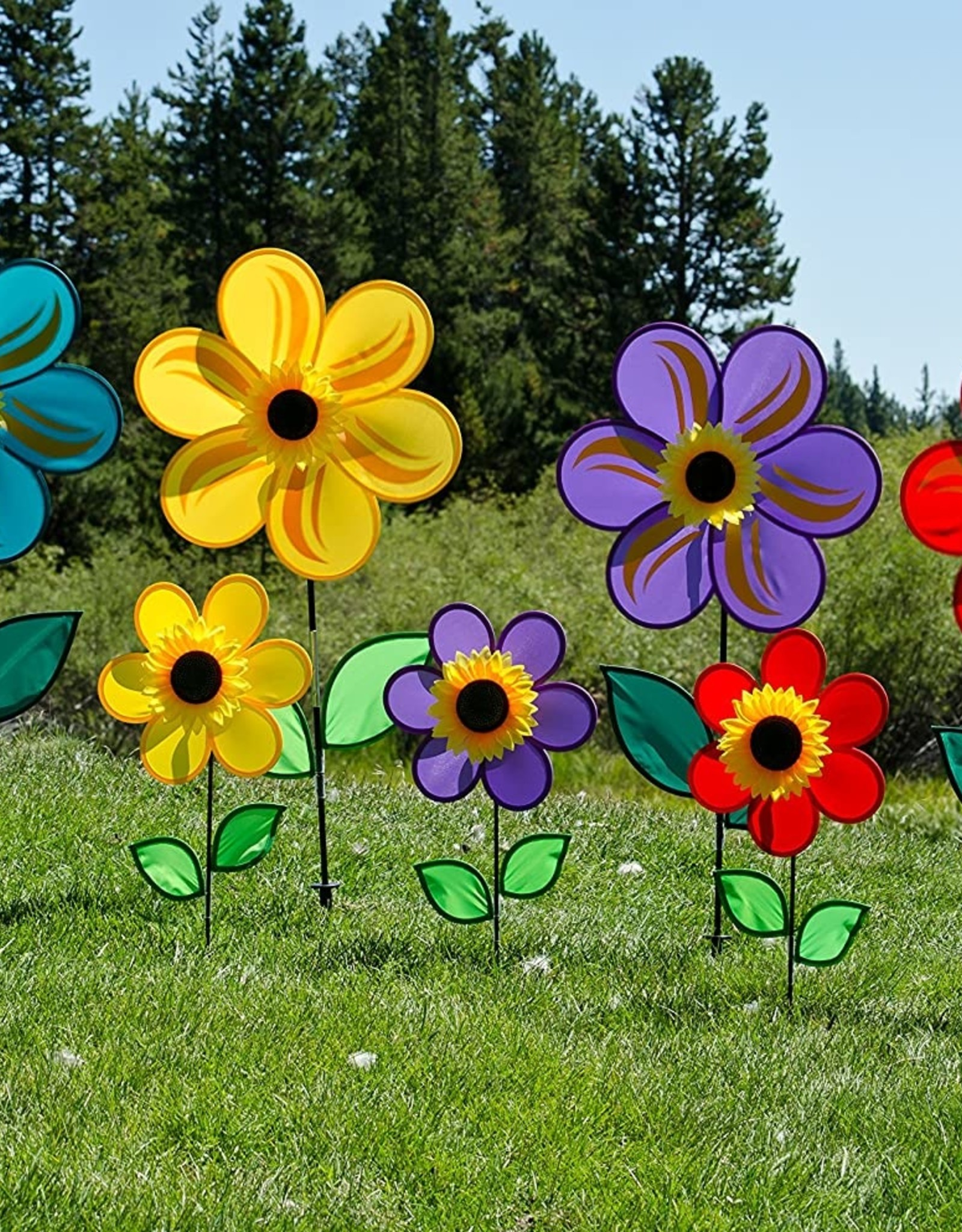 In The Breeze Ground Spinner Sunflower Purple