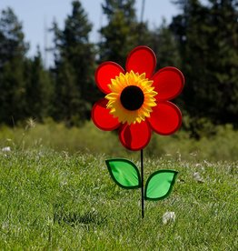 In The Breeze Ground Spinner Sunflower Red
