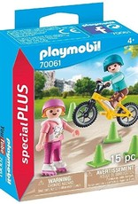 Playmobil PM Children with skates and bike
