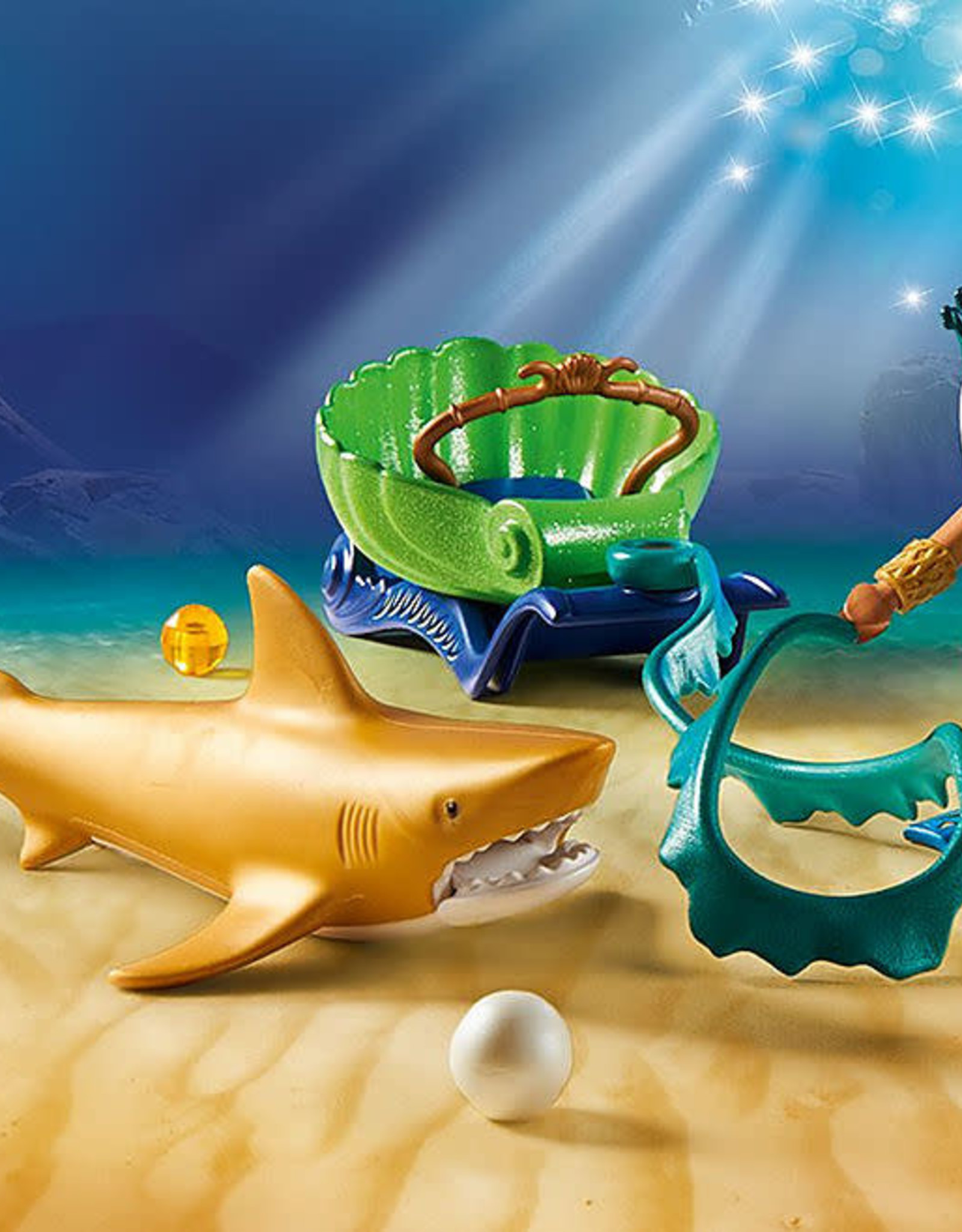Playmobil PM King of the Sea with Shark Carriage