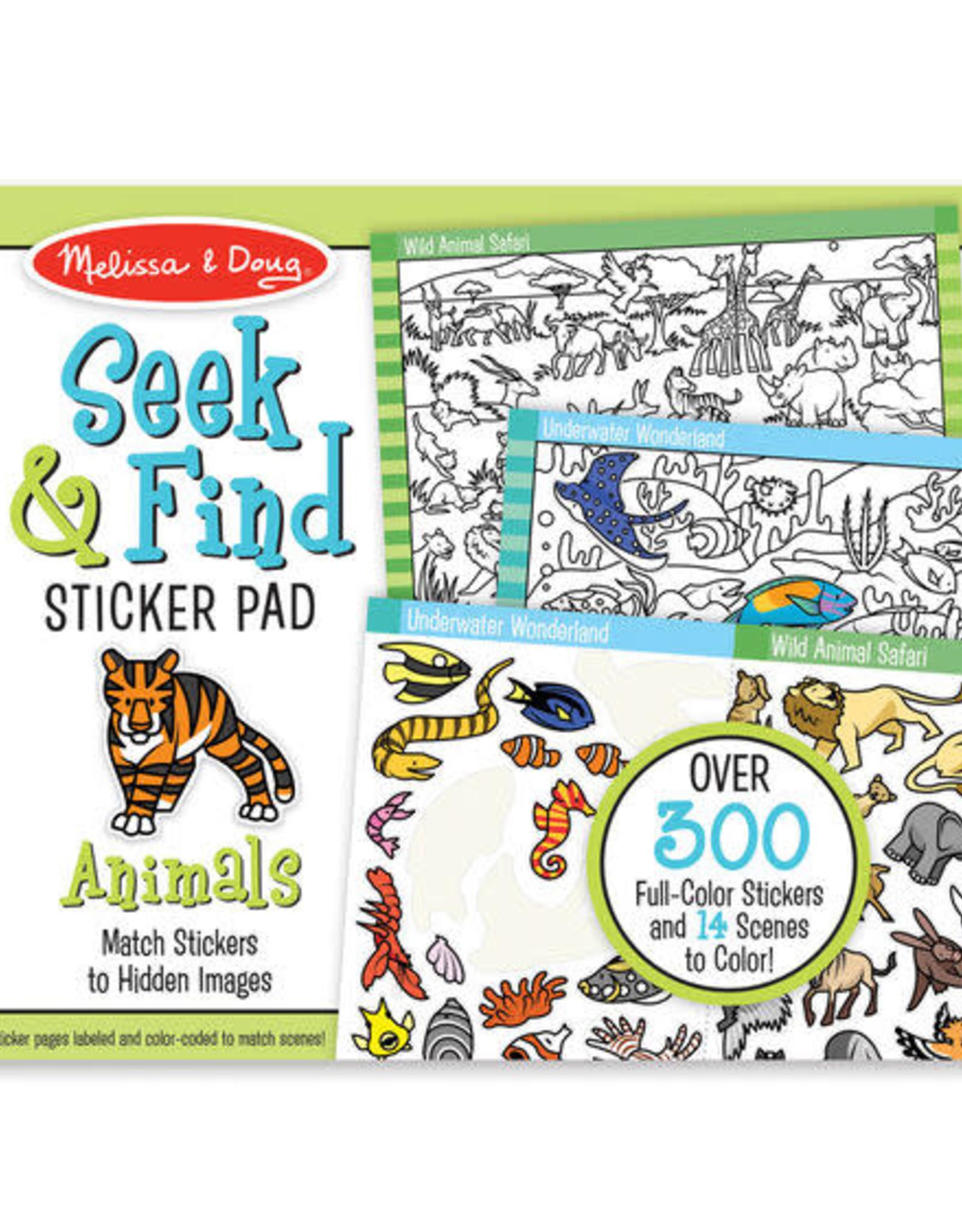 Melissa & Doug MD Seek & Find Sticker Pad Animals