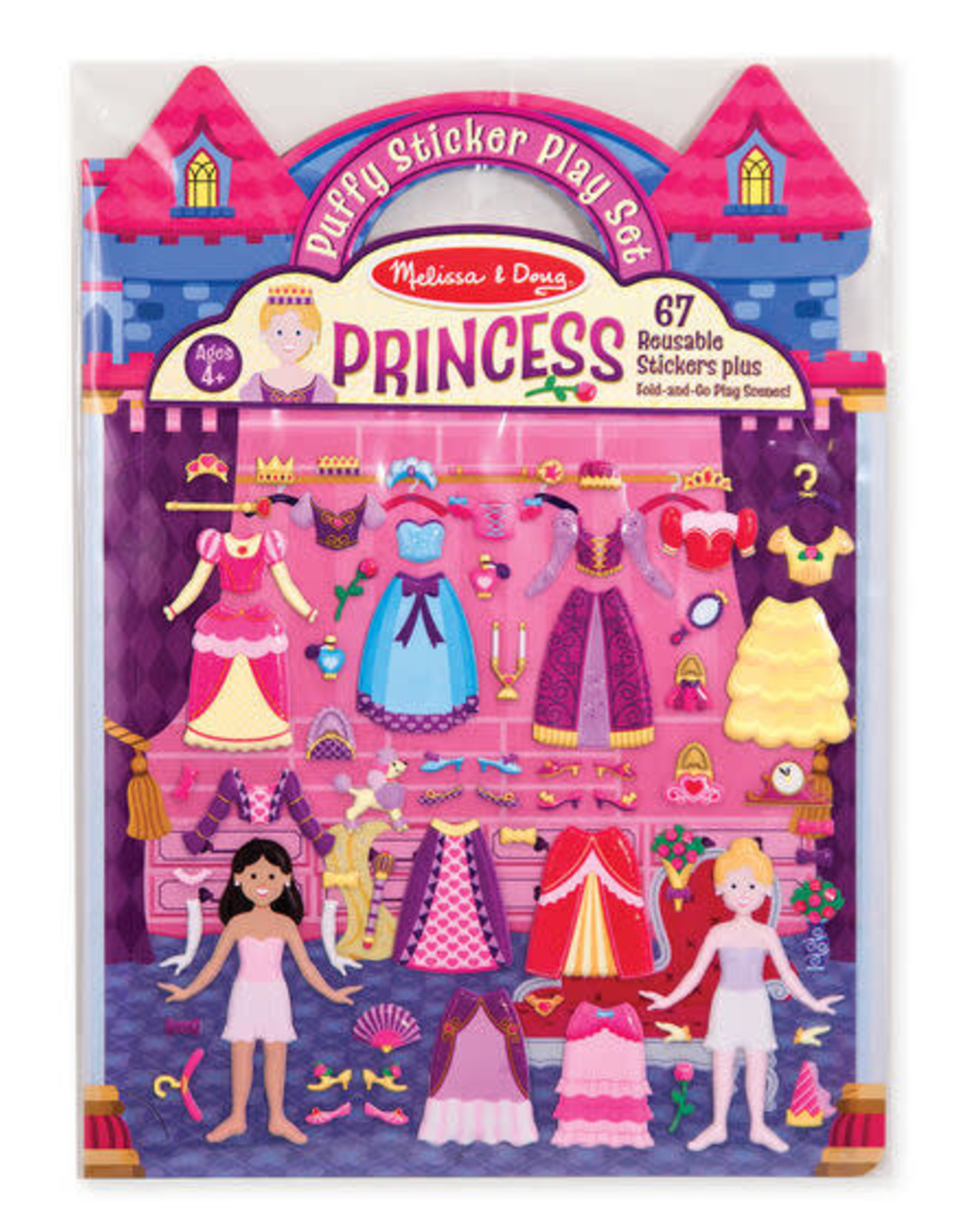 Melissa & Doug MD Puffy Stickers Princess