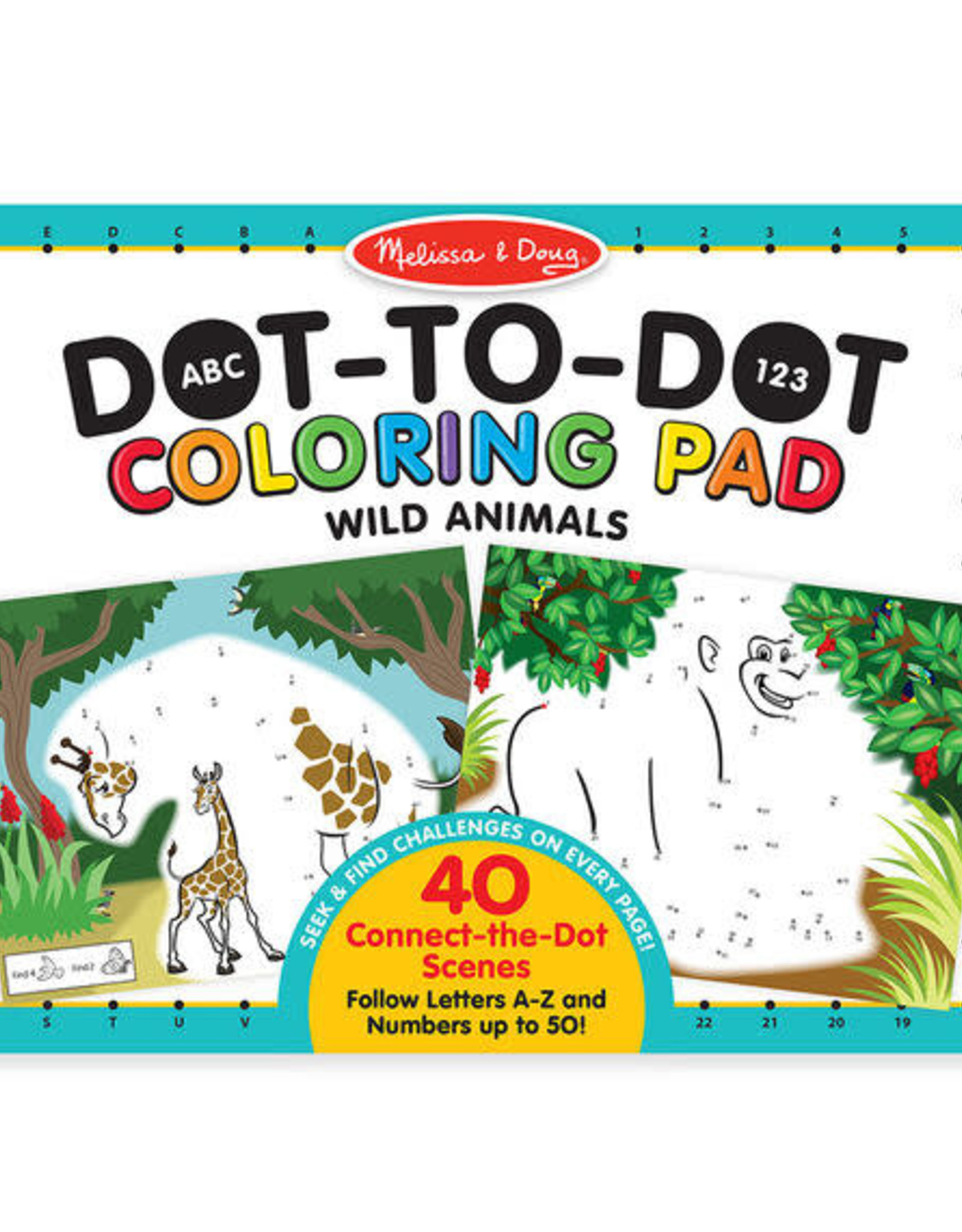 Melissa & Doug MD Coloring Pad Dot to Dot Wild Animal