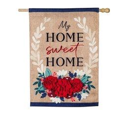 Evergreen EV Patriotic Floral Home Sweet Home