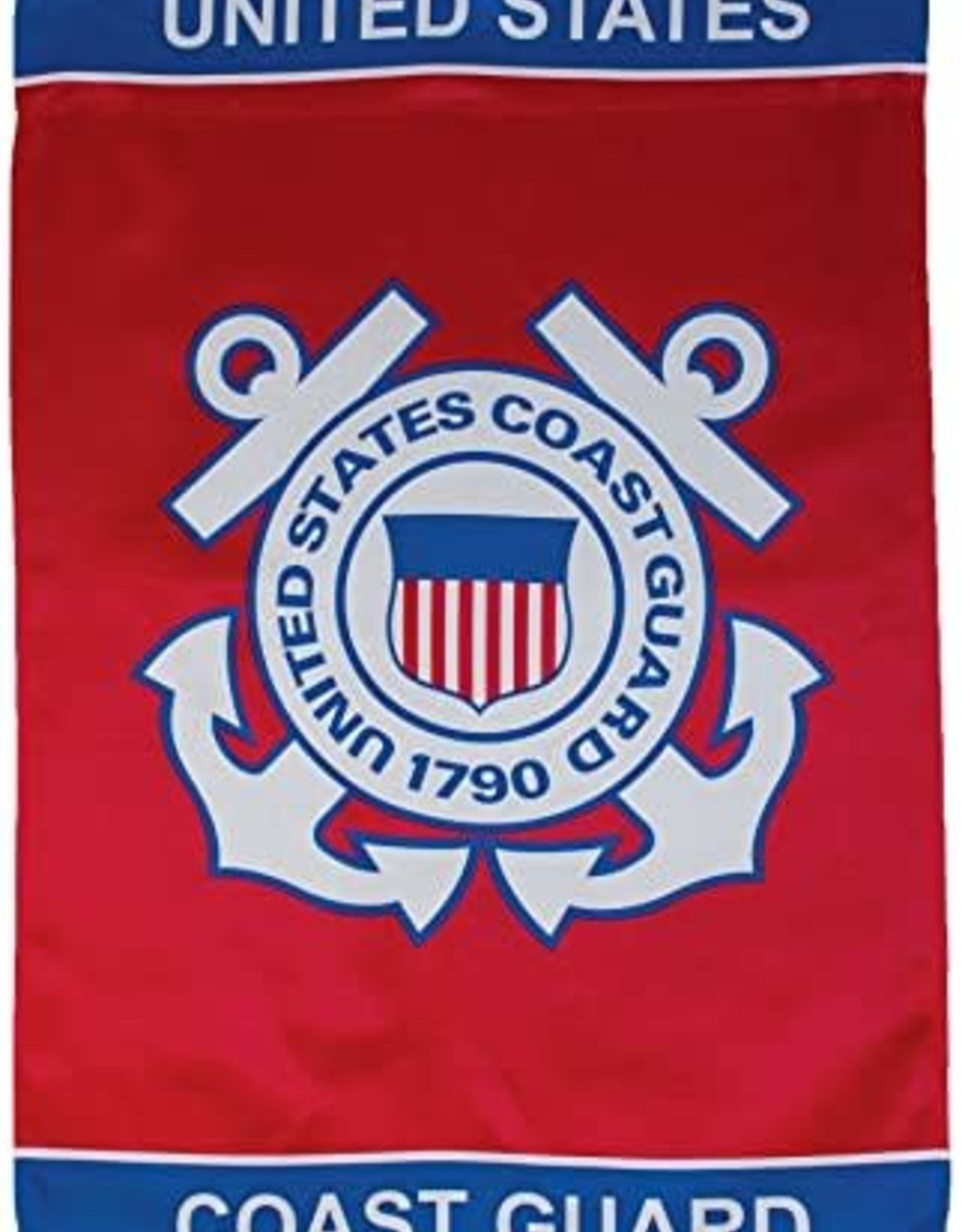 In The Breeze 28x40 Coast Guard Lustre Flag