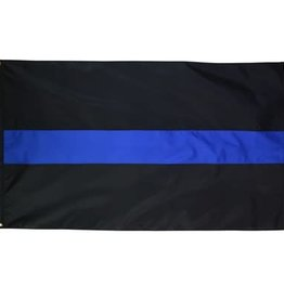 In The Breeze 3' x 5' Grommet Blue Line