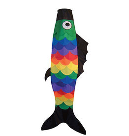 "In The Breeze 60""Rainbow Scale Fish Windsock"