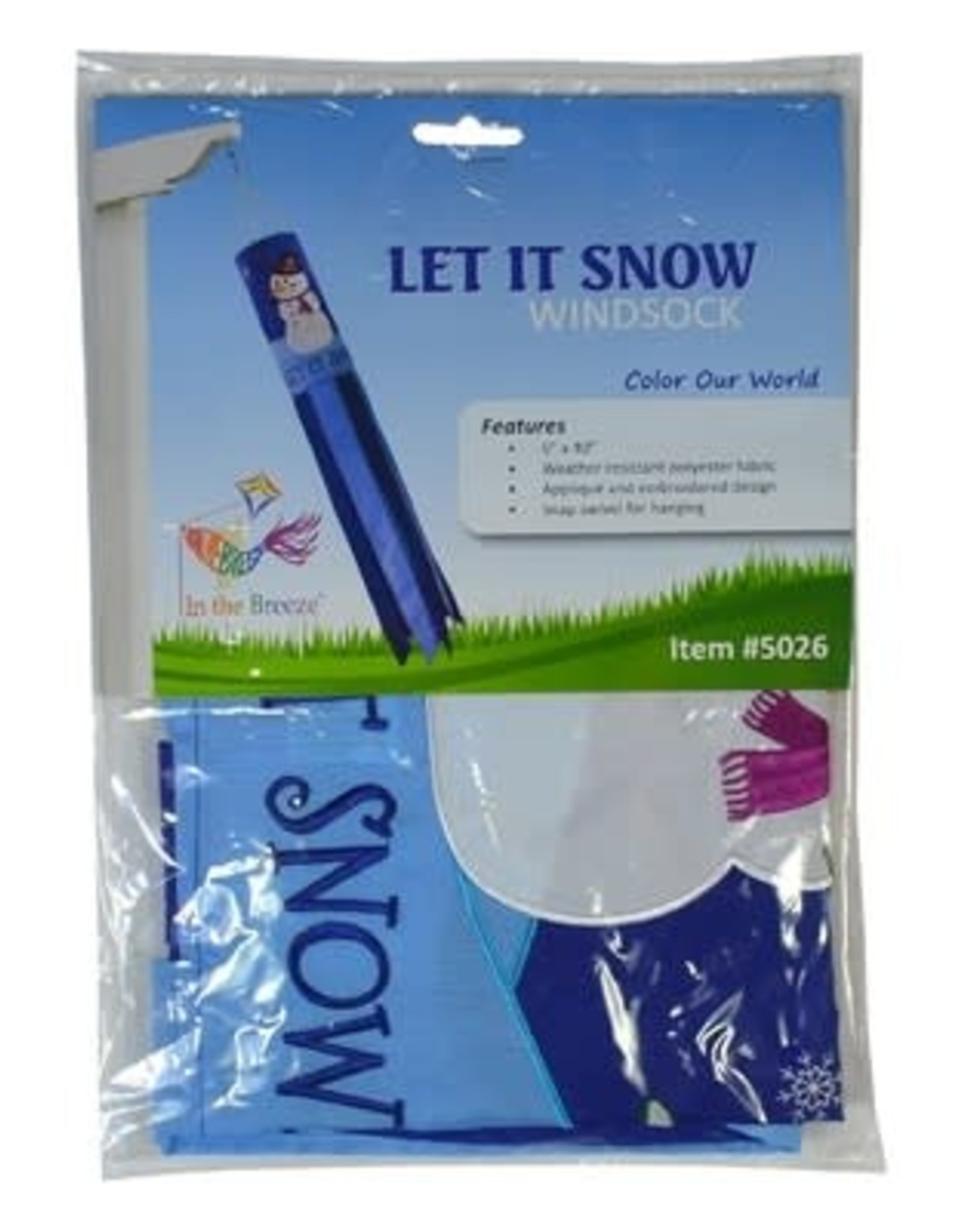 In The Breeze Let It Snow Windsock