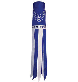 "In The Breeze WINDSOCK-40"" AIR FORCE WINGS"
