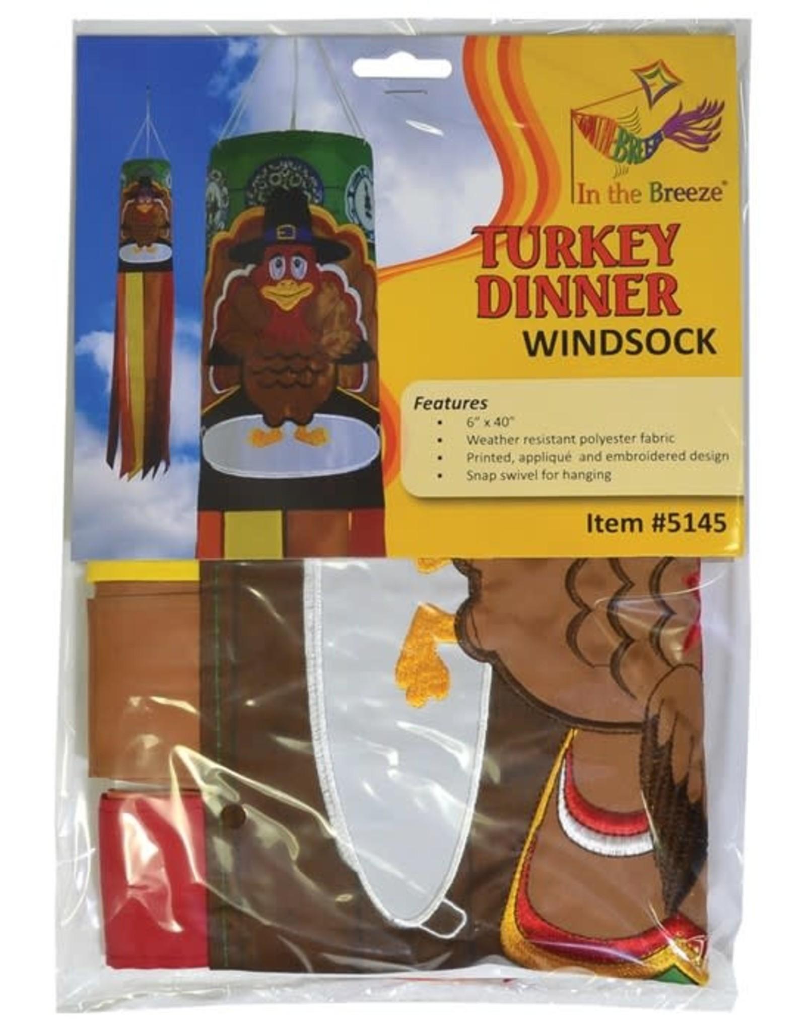 """In The Breeze WINDSOCK-40"""" TURKEY DINNER"""