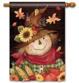 Studio M Autumn Scarecrow House Flag