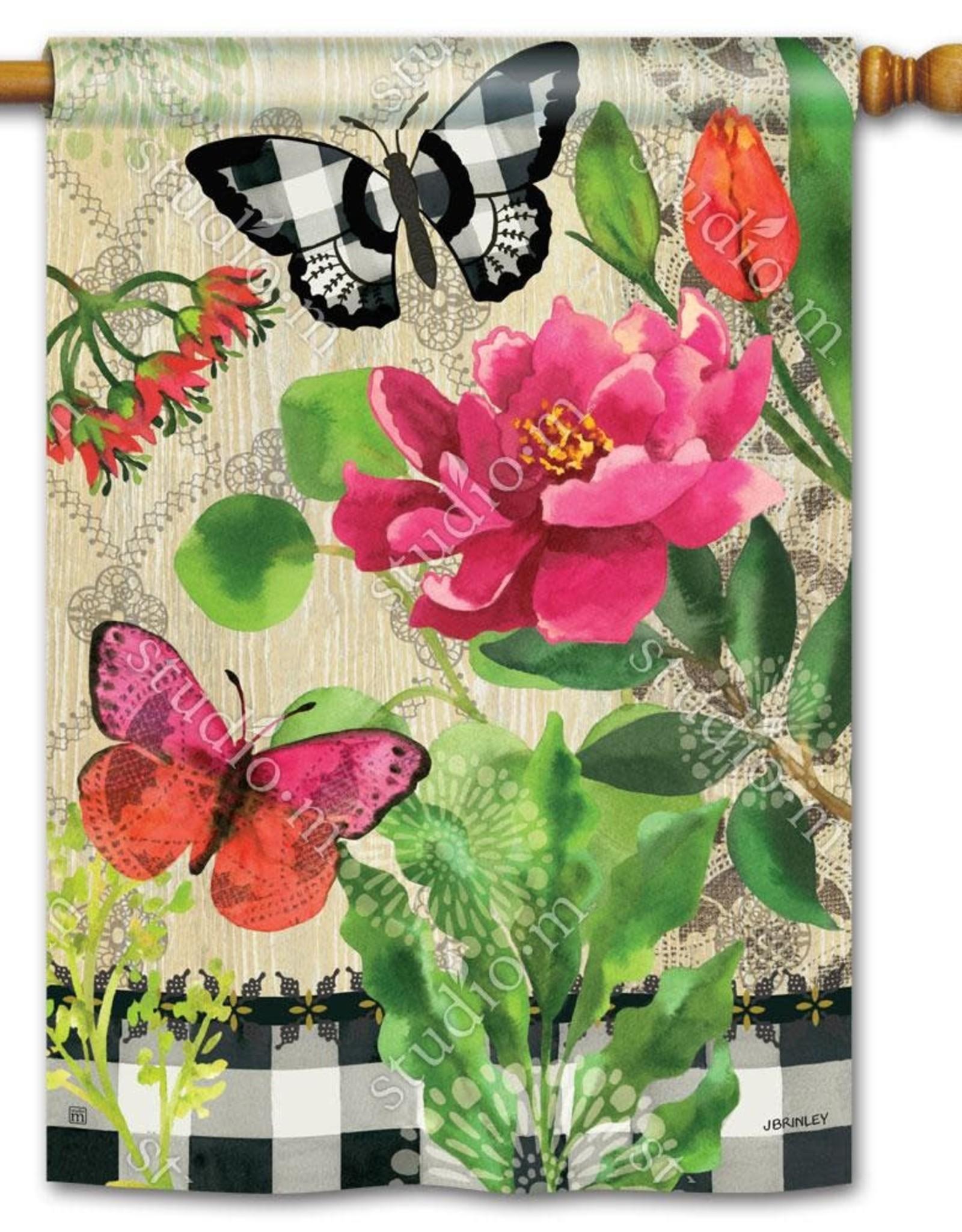 Studio M Butterflies in Check